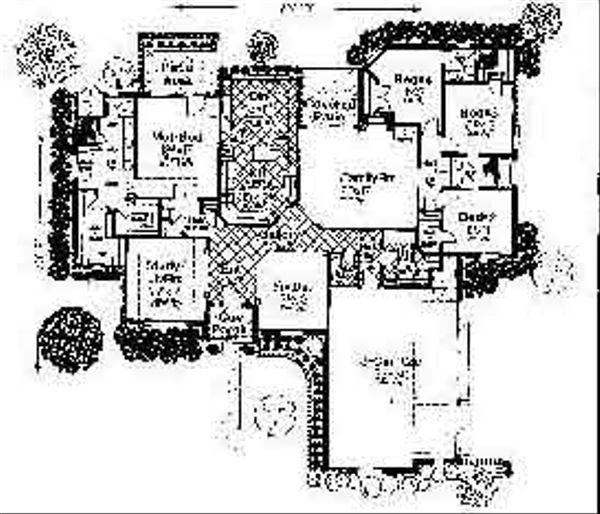 Cottage Floor Plan - Main Floor Plan #310-710