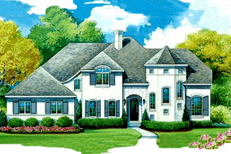 Architectural House Design - European Exterior - Front Elevation Plan #20-1705