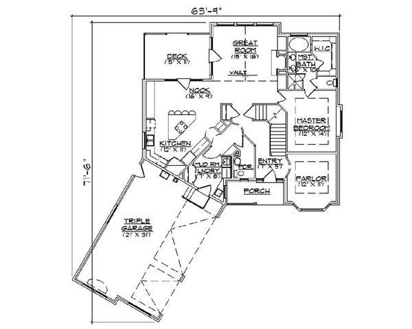 Country Floor Plan - Main Floor Plan Plan #5-367