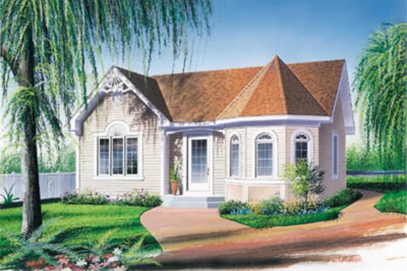 Victorian Exterior - Front Elevation Plan #23-168 - Houseplans.com