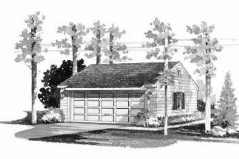 House Blueprint - Traditional Exterior - Front Elevation Plan #72-236