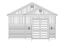 Country Exterior - Rear Elevation Plan #932-260