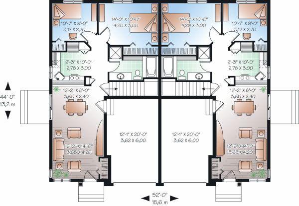 Traditional Floor Plan - Main Floor Plan Plan #23-870