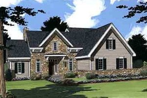 House Design - Colonial Exterior - Front Elevation Plan #46-275