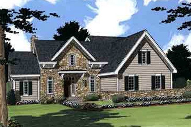 Colonial Exterior - Front Elevation Plan #46-275