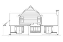 Home Plan - Farmhouse Exterior - Rear Elevation Plan #124-176
