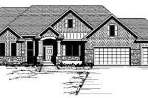Craftsman Exterior - Front Elevation Plan #51-258