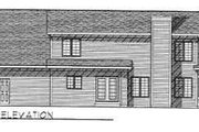 Traditional Style House Plan - 3 Beds 2.5 Baths 2197 Sq/Ft Plan #70-332 Exterior - Rear Elevation