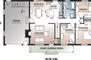 Farmhouse Style House Plan - 3 Beds 1 Baths 1176 Sq/Ft Plan #23-122 Exterior - Front Elevation