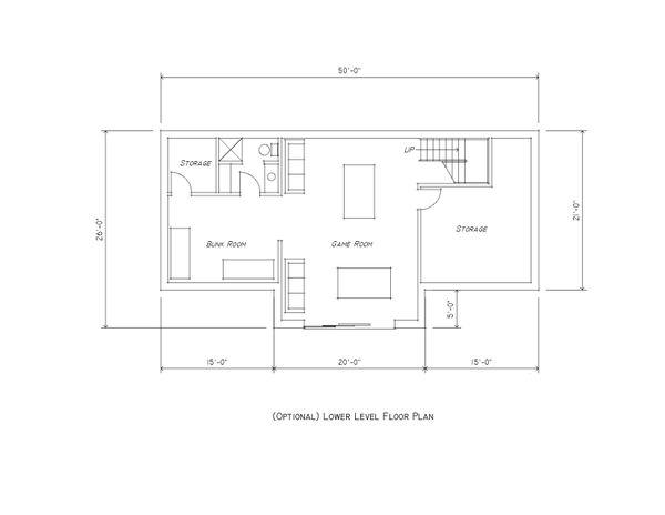 Contemporary Floor Plan - Lower Floor Plan Plan #481-11