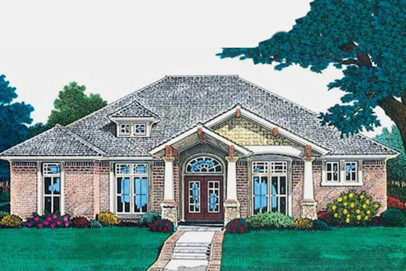 Colonial Style House Plan - 4 Beds 3.5 Baths 2478 Sq/Ft Plan #310-701 Exterior - Front Elevation