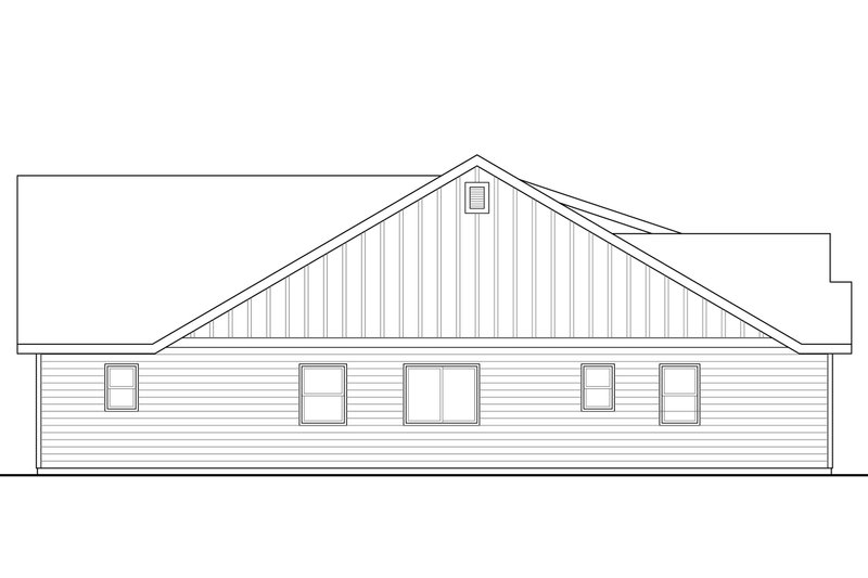 Ranch Exterior - Other Elevation Plan #124-948 - Houseplans.com