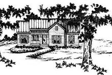 Home Plan Design - Traditional Exterior - Front Elevation Plan #36-126