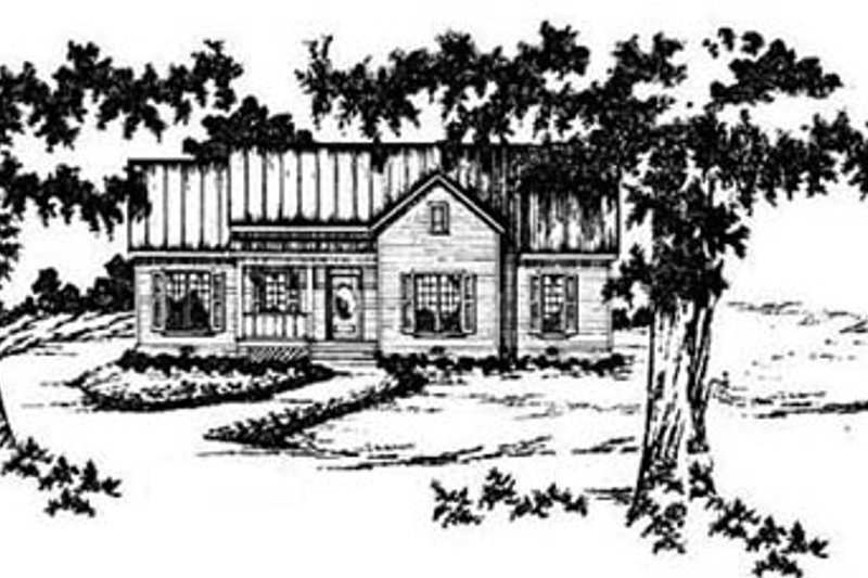Architectural House Design - Traditional Exterior - Front Elevation Plan #36-126