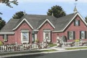 European Style House Plan - 3 Beds 2 Baths 1985 Sq/Ft Plan #20-1828