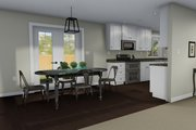 Ranch Style House Plan - 2 Beds 1 Baths 1190 Sq/Ft Plan #1060-3 Interior - Dining Room