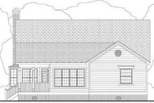 Southern Exterior - Rear Elevation Plan #406-158