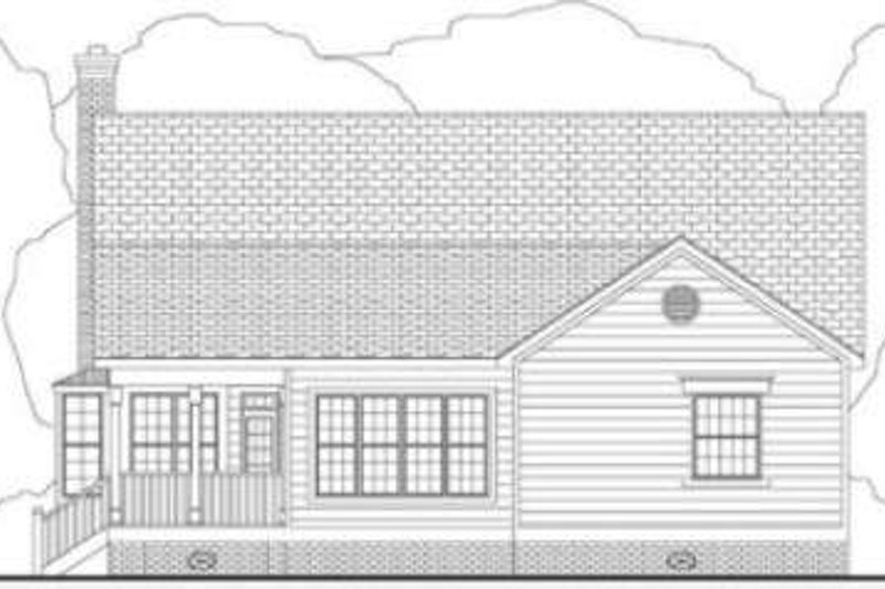 Southern Exterior - Rear Elevation Plan #406-158 - Houseplans.com