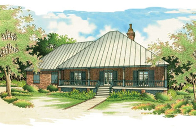 Home Plan Design - Southern Exterior - Front Elevation Plan #45-125