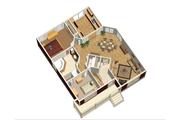 Cottage Style House Plan - 2 Beds 1 Baths 1173 Sq/Ft Plan #25-4735 Floor Plan - Main Floor Plan