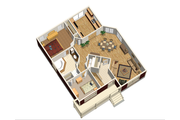 Cottage Style House Plan - 2 Beds 1 Baths 1173 Sq/Ft Plan #25-4735 Floor Plan - Main Floor