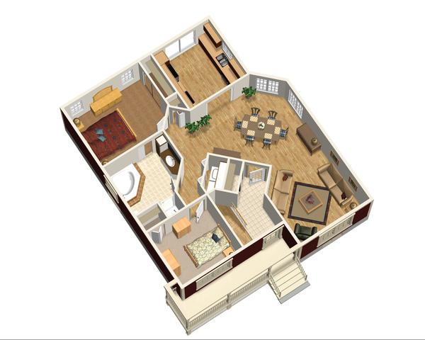 Cottage Floor Plan - Main Floor Plan Plan #25-4735