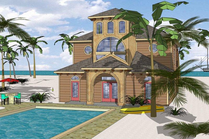 Beach Exterior - Front Elevation Plan #8-310