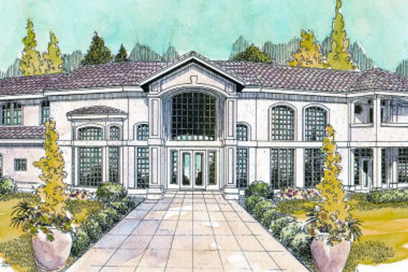 Exterior - Front Elevation Plan #124-646 - Houseplans.com
