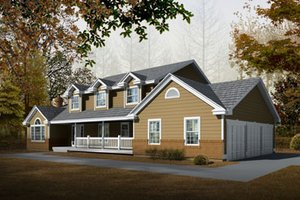 Architectural House Design - Farmhouse Exterior - Front Elevation Plan #100-202