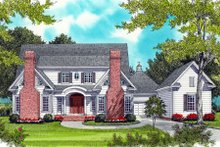 Dream House Plan - Colonial Exterior - Front Elevation Plan #413-826
