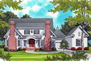 House Plan Design - Colonial Exterior - Front Elevation Plan #413-826