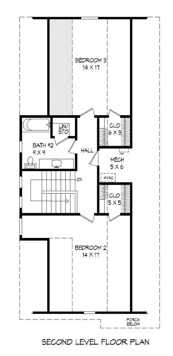 Cottage Floor Plan - Upper Floor Plan Plan #932-24