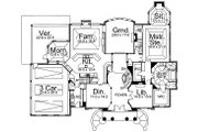 Classical Style House Plan - 4 Beds 3.5 Baths 5083 Sq/Ft Plan #119-246 Floor Plan - Main Floor