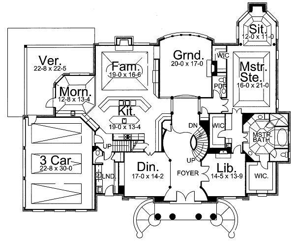 Classical Floor Plan - Main Floor Plan Plan #119-246