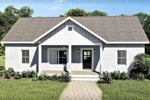 Architectural House Design - Ranch Exterior - Front Elevation Plan #44-228