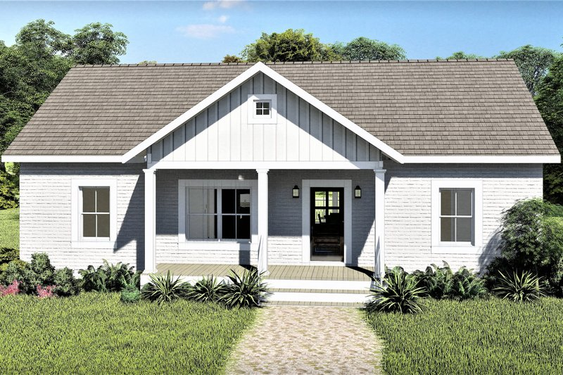 House Plan Design - Ranch Exterior - Front Elevation Plan #44-228