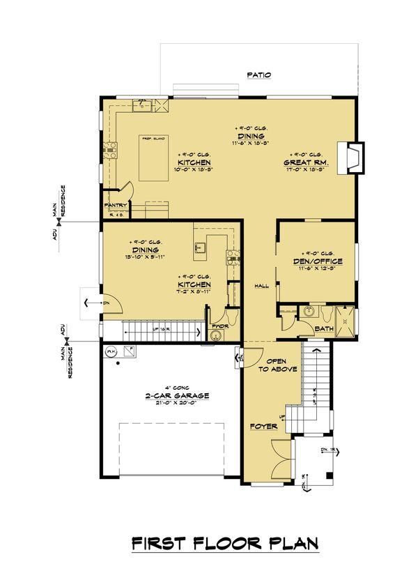 Contemporary Floor Plan - Main Floor Plan #1066-113