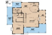 Cottage Style House Plan - 3 Beds 2.5 Baths 2637 Sq/Ft Plan #923-68 Floor Plan - Main Floor Plan