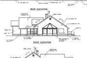 Country Style House Plan - 2 Beds 2 Baths 2171 Sq/Ft Plan #60-402 Exterior - Rear Elevation