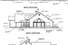 House Plan Design - Country Exterior - Rear Elevation Plan #60-402