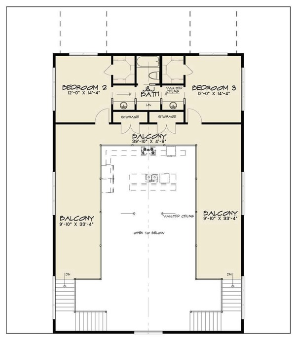 Country Floor Plan - Upper Floor Plan #923-97