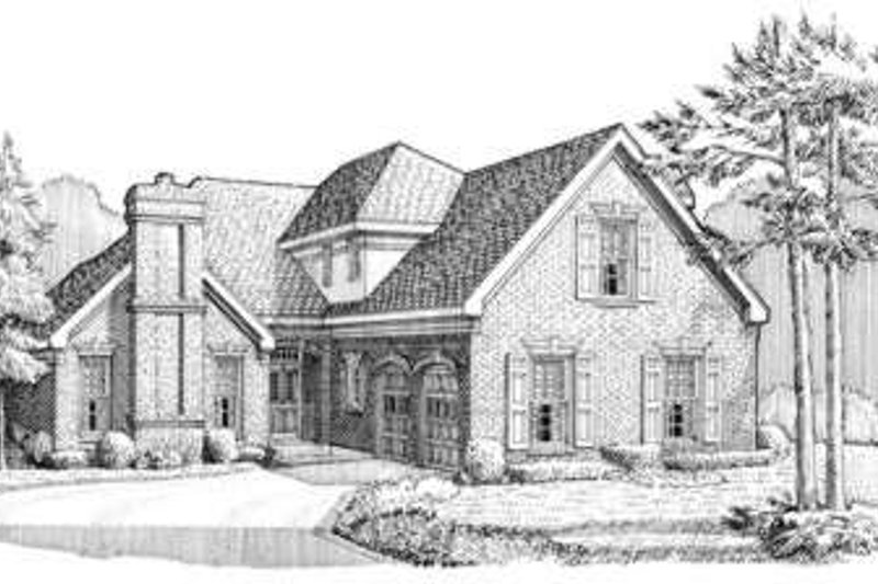 European Exterior - Front Elevation Plan #410-360
