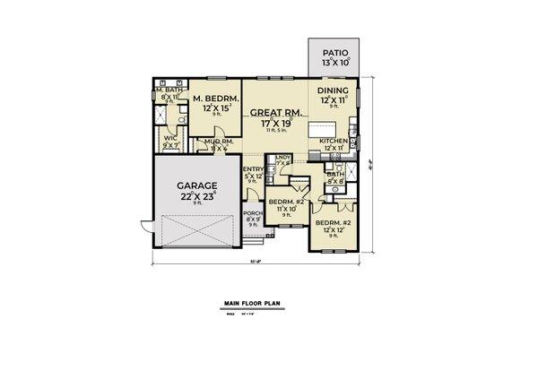 Home Plan - Craftsman Floor Plan - Main Floor Plan #1070-49