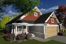 Dream House Plan - Craftsman Exterior - Front Elevation Plan #70-1238