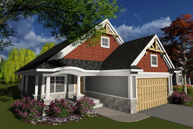 Craftsman Exterior - Front Elevation Plan #70-1238