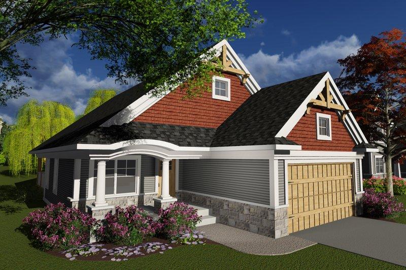 Home Plan - Craftsman Exterior - Front Elevation Plan #70-1238