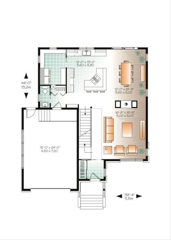 House Plan Design - Modern Floor Plan - Main Floor Plan #23-2292