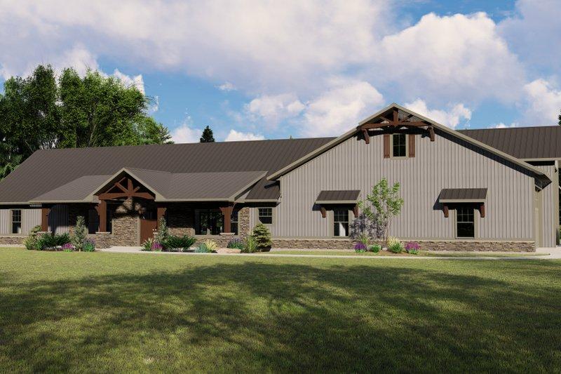 House Plan Design - Farmhouse Exterior - Front Elevation Plan #1064-106