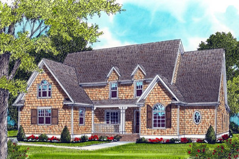 Craftsman Style House Plan - 4 Beds 4.5 Baths 3682 Sq/Ft Plan #413-813 Exterior - Front Elevation