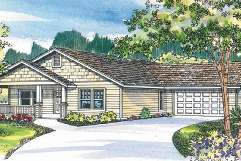 Dream House Plan - Exterior - Front Elevation Plan #124-458